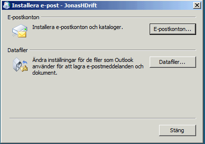 Outlook 2007 Installera e-post